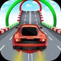 彩色汽车轨道特技赛游戏